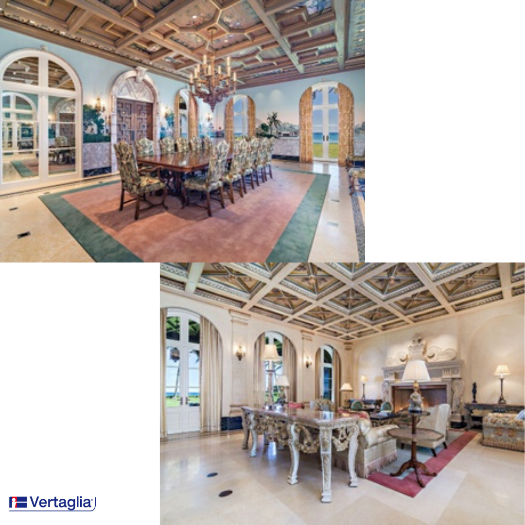 Made in Italy for an ocean view villa in Florida